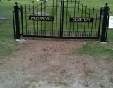 Example of a custom Exterior Wrought Iron Fence or Entry Gate